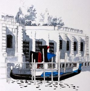 Un calder devant la Peggy Guggenheim Collection